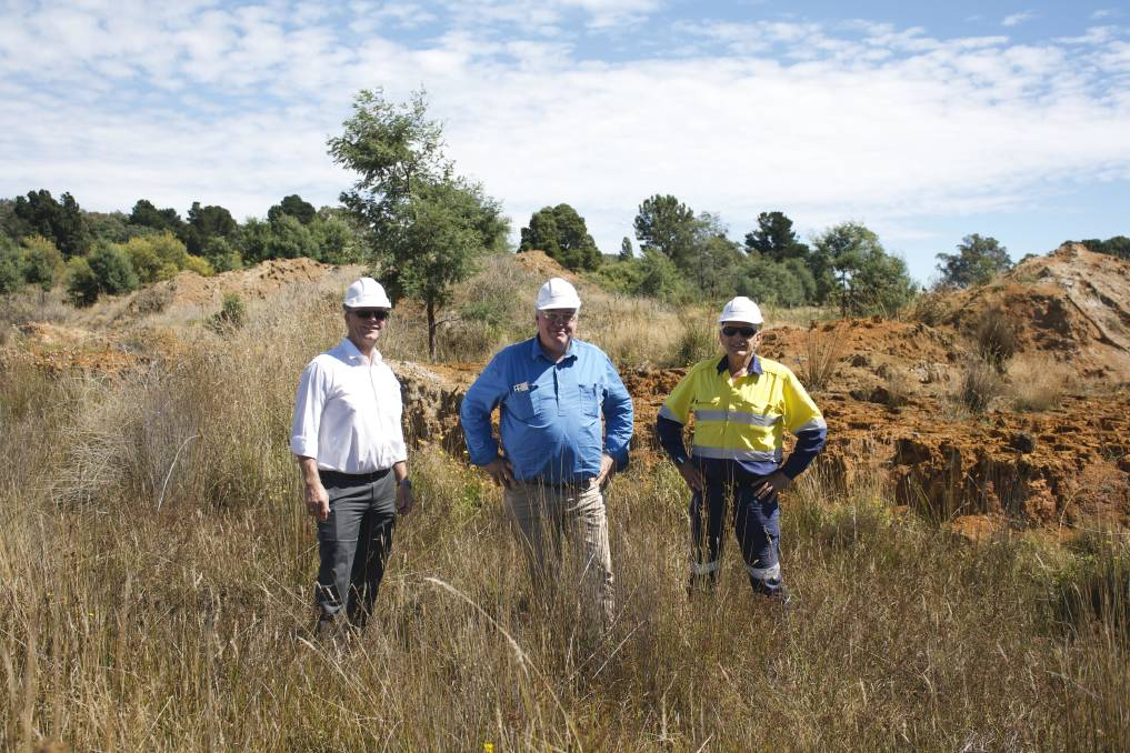 GOLD: Rolf Voss, Roger Jackson, Grant Schuhmann at the Beaconsfield Mine. Picture: Supplied.