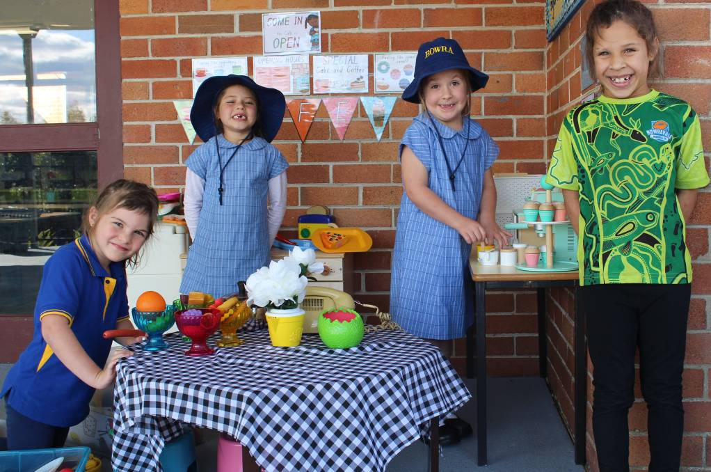 Tallulah, Daniella, Mikayla and Nahkiaya on their first day back in Term 2