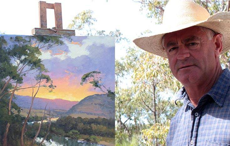 Gordon Rossiter painting in Hat Head National Park