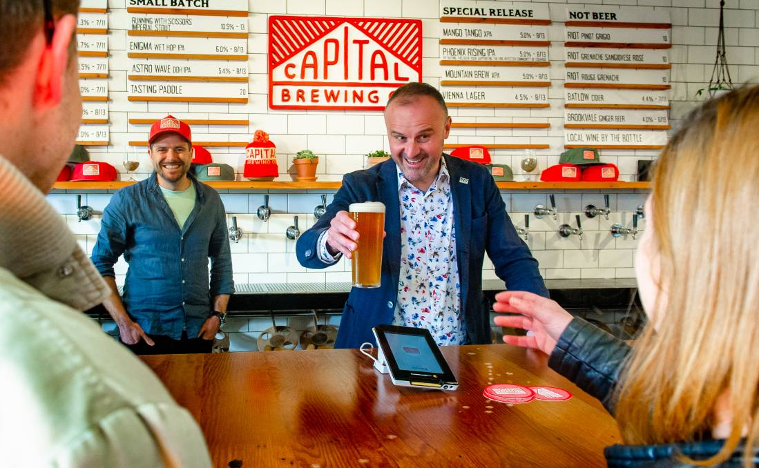 Canberrans will be allowed to drink a beer while standing up when restrictions ease. Picture: Elesa Kurtz