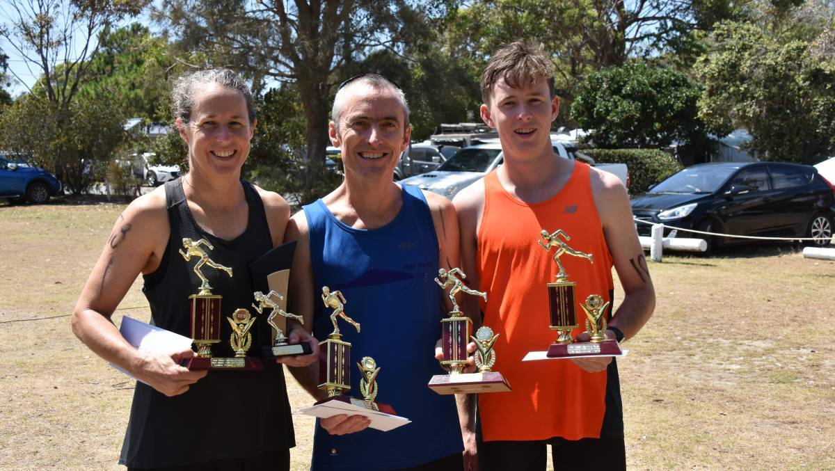 Wendy Olden and Peter and Tom Fletcher were successful in their age groups last year. Photo: File