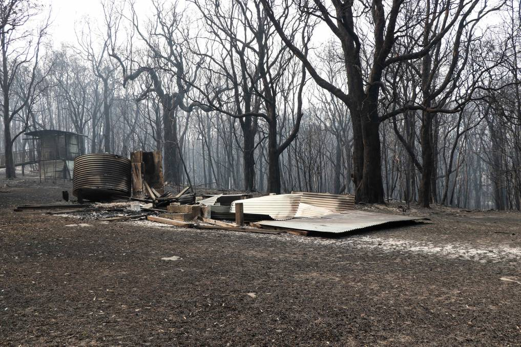 DESTROYED: Kylie's Hut and the national park around Diamond Head has been destroyed. Photo: National Parks and Wildlife.