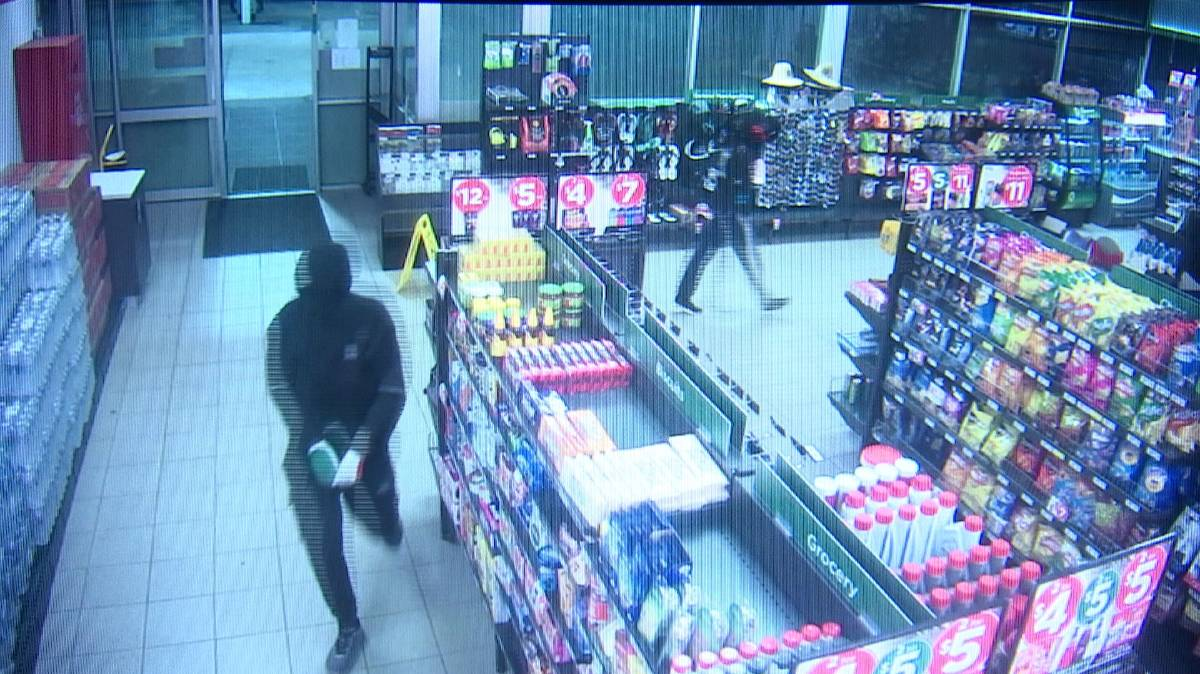 CCTV vision released in investigation of armed robbery spree at Kempsey.