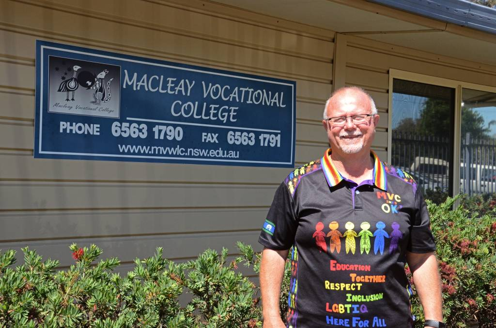 Macleay Vocational College Mark Morrison. Photo: Ruby Pascoe