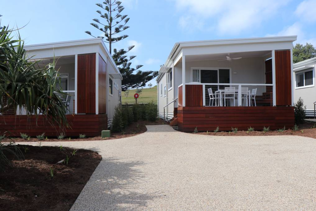 Cabins installed at Crescent Head Holiday Park in 2020. Photo: File