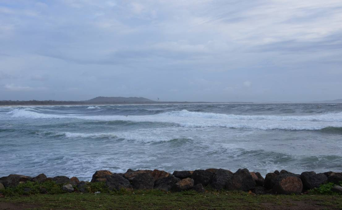 Wild weather conditions over the weekend. Photo: Ruby Pascoe