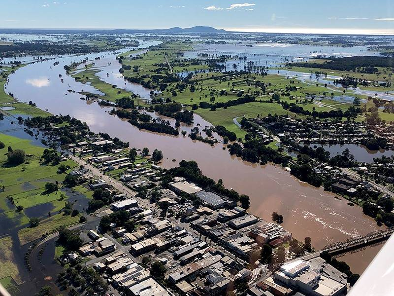 The River may reach a peak at the moderate level (around 5.7m) in Kempsey overnight. Photo: Supplied by Kemspey Shire Council