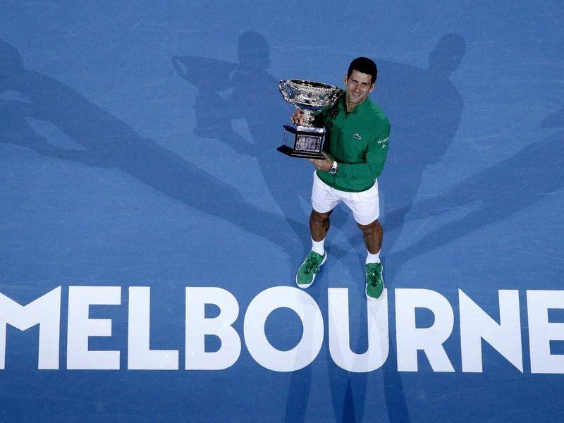 Novak Djokovic will be vying for a ninth Australian Open title when the tourney starts in February.