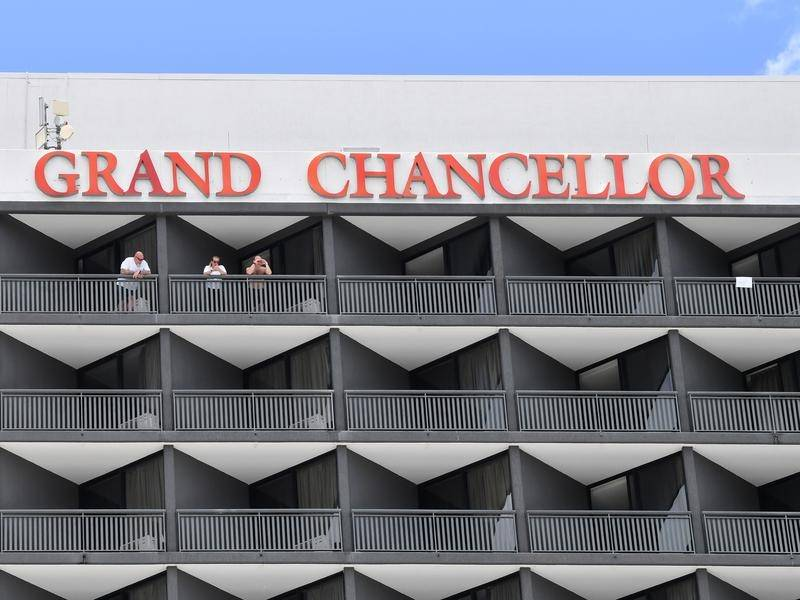 Hotel Grand Chancellor has been shut after six people tested positive to the UK coronavirus strain