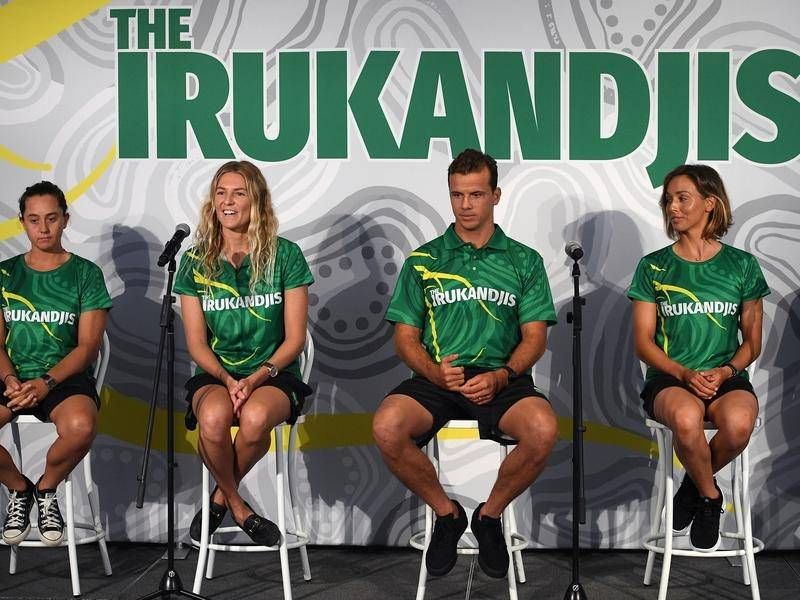 The Australian surf team will be known as the Irukandjis at the Tokyo Olympics.