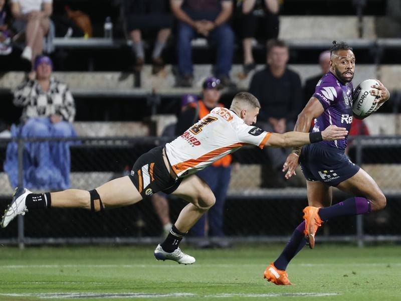 Winger Josh Addo-Carr is one of a swag of Melbourne stars set to be rested ahead of the NRL finals.