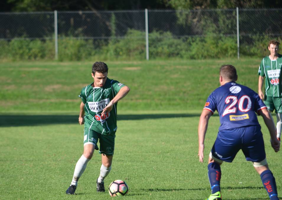 Defeat: The Kempsey Saints Premier League side lost their first game at home for the season. Photo: Callum McGregor.