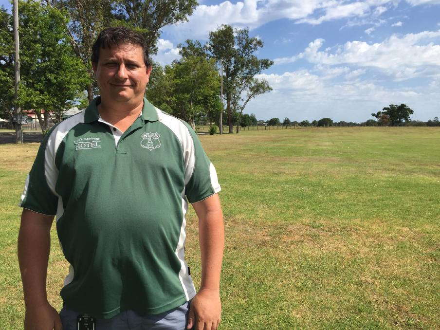 New man in charge: Luke Flanagan has taken the reins of the Kempsey Saints Football Club as the new president. Photo: Callum McGregor.